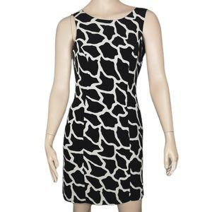Joseph Ribkoff Vintage Lined Sheath Dress Giraffe Print